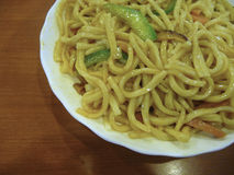 Chinês Fried Noodles Foto de Stock Royalty Free