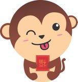 Chinês Ilustration do macaco de Shio Imagem de Stock Royalty Free