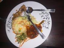 Chinês irritável do alimento do jantar do almoço do café da manhã do alimento foto de stock
