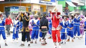 Chinês Opera que executa na rua video estoque