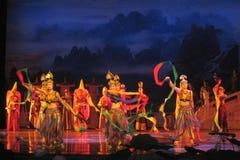 Chinês Tang Dynasty Performance Fotografia de Stock Royalty Free