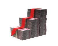 Chinês Yuan e seta vermelha Foto de Stock Royalty Free