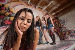 Chin guardando adolescente misturado Imagens de Stock Royalty Free