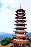 Chin Swee Caves Temple,Genting Highland. Pagoda in Chin Swee Caves Temple,Genting Highland royalty free stock photo