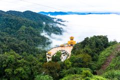 Chin Swee Caves Temple Genting Highlands Malaysia. This is the hall of Chin Swee Caves Temple Genting Highlands Malaysia and the weather was cloudy Royalty Free Stock Image