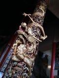 Temple Pole Dragon Sculpture stock photos