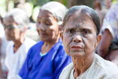 Chin tribe tatoed women, Myanmar Royalty Free Stock Photo