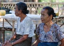 Chin tribe tatoed women, Myanmar Stock Image