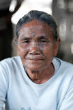 Chin Tribe Tattoed Woman, Myanmar Stock Image