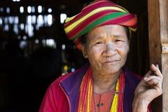 Chin tribe tattooed woman Stock Photography