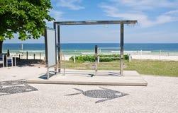 Chin-up bar on Barra da Tijuca beach in Rio de Janeiro Royalty Free Stock Photos