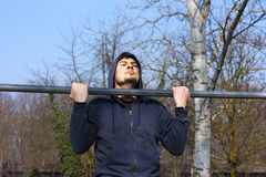 Chin-up Workout Stock Image