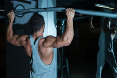 Chin Ups Exercise For Back Foto de Stock Royalty Free