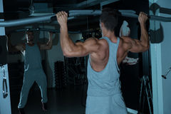 Chin Ups Exercise For Back Immagine Stock