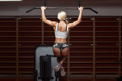 Chin Ups Workout For Back Royalty Free Stock Photos