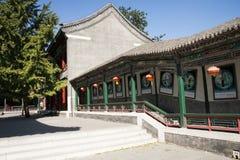China, Ásia, Pequim, o jardim grande da vista, construções antigas Fotografia de Stock