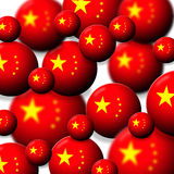 China. Concept image about Chinese economic power with perspective of balls with the Chinese flag Stock Images