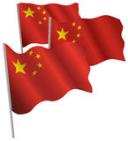 China 3d flag. Royalty Free Stock Images