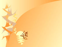 China. Vector  backgrounds summer evening in China Royalty Free Stock Images