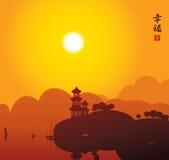 China湖 免版税库存照片