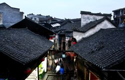 China. Old street in phoenix town in hunan royalty free stock photo