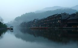 China. The morning of phoenix town is very beautiful Royalty Free Stock Images