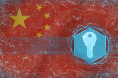 China access key. Electronic defense concept. royalty free illustration