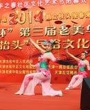 China acrobatics. China folk performance at dragon raising-head temple fair he-ping Tianjin China photoed on March 2nd 2014 Royalty Free Stock Image