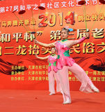 China acrobatics. China acrobatics at dragon raising-head temple fair He-ping Tianjin China  photoed on march2nd 2014 Royalty Free Stock Image