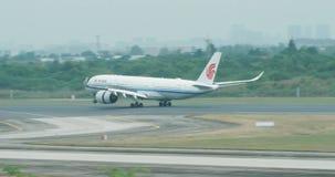 China Airline landing Suangliu airport, China