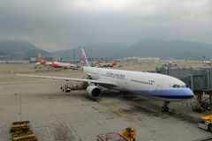 China Airlines Airbus 330-300 at Hong Kong Airport Stock Image