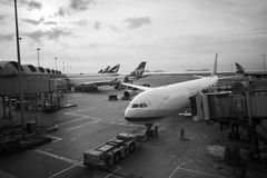 China Airlines Airbus in Hong Kong International Airport Royalty Free Stock Image