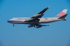 China Airlines hyvlar royaltyfri fotografi