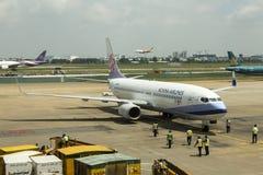China Airlines, Taiwan - all'aeroporto di Saigon fotografia stock