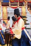China-alter Gerichtsmusiker Stockfoto
