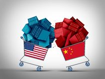 China American Trade Fight vector illustration