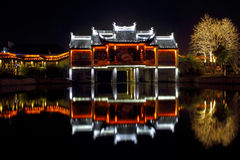 China ancient architecture nightscape Stock Image