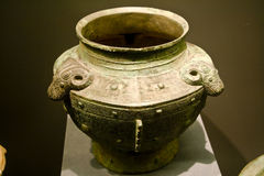 China ancient Bronze Container Stock Photo