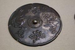 China ancient bronze mirror Stock Photos