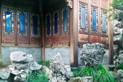 China ancient building. Located in Hangzhou City, Zhejiang Province, China, is part of the former residence of Xueyan Hu, a Chinese famous businessman in the Stock Images