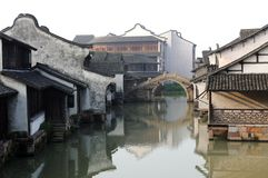 China ancient building in Wuzhen. Ancient building near the river in Wuzhen town, Zhejiang province, China Stock Image