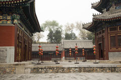 China ancient buildings. In Asia, Beijing Old Summer Palace China, Zhengjue Temple Stock Photos