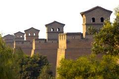 China ancient city wall. Of Pingyao,Shanxi province,China Royalty Free Stock Images