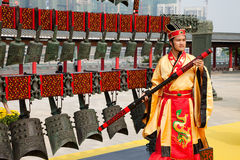China ancient court musician Royalty Free Stock Images