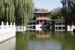 China ancient garden scenery. Located the Chinese ancient building in the beautiful environment Stock Photography