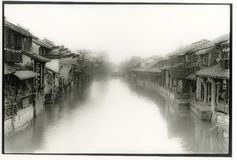 China ancient water village stock image