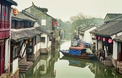 China ancient water village royalty free stock photography