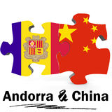 China and Andorra flags in puzzle Royalty Free Stock Image
