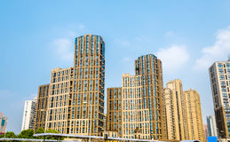 China apartment buildings in Shanghai Stock Images