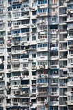 China Apartments. In a very crowded building Royalty Free Stock Image
